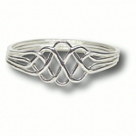 4 Band - Sterling Silver Puzzle Ring - Princess