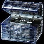 3D  Crystal Puzzle - Treasure Chest (Black)