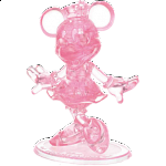 3D Crystal Puzzle - Minnie Mouse (Pink)