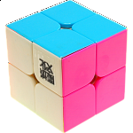 LingPo 2x2x2 Stickerless Body (with Pink) for Speed Cubing