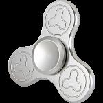 Metal Tri Spinner Anti-Stress Fidget Toy - Silver Design