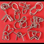 10 Metal Puzzle Set - Red
