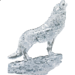 3D Crystal Puzzle - Wolf (Clear)
