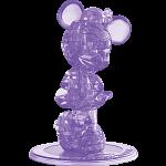 3D Crystal Puzzle - Minnie Mouse 2 (Purple)