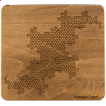 Wooden Fractal Tray Puzzle - Terdragon Curve