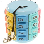 Eni Puzzle - Key Chain Numbers Pastel