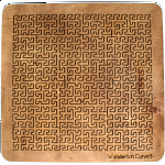Wooden Fractal Tray Puzzle - Wunderlich Curve 3