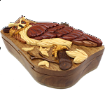 Owl on Branch - 3D Puzzle Box
