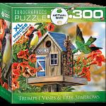 Trumpet Vines & Tree Sparrows - Large Piece Family Puzzle