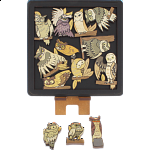 Owls - Wooden Packing Puzzle