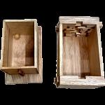 Secret Lock Box (Rubberwood) - Premium with Mandala Artwork