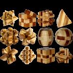 E3D Bamboo Mini Puzzles - Set of 12