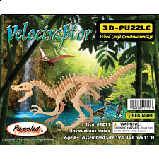 Velociraptor - 3D Wooden Puzzle -