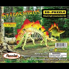 Stegosaurus - Illuminated 3D Wooden Puzzle -