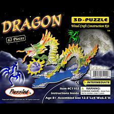 Dragon - Small - Illuminated 3D Wooden Puzzle -
