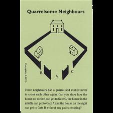 Quarrelsome Neighbours - Trade Card -