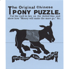 The Original Chinese Pony Puzzle - Trade Card -