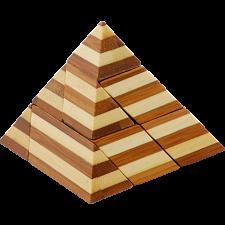 Bamboo Wood Puzzle - Pyramid -
