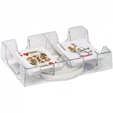 Dual Deck Revolving Card Holder -