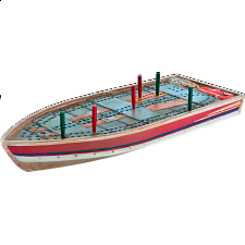 Cribbage Board - Tin Boat -