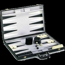 21 inch Backgammon Set - Black and White -