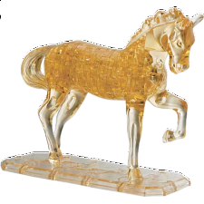 3D Crystal Puzzle Deluxe - Horse (Brown) -