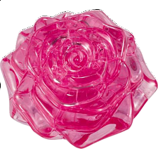 3D Crystal Puzzle - Rose (Pink) -