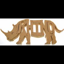 Rhino - Wooden Jigsaw -