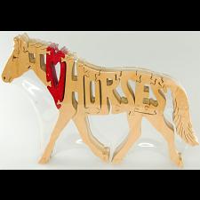 I Love Horses - Wooden Puzzle -