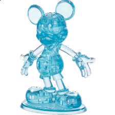 3D Crystal Puzzle - Mickey Mouse (Blue) -