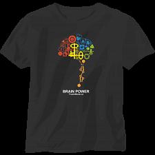 Brain Power - Black - T-Shirt -