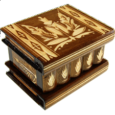 Romanian Puzzle Box - Medium Brown -