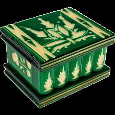 Romanian Puzzle Box - Small Green -