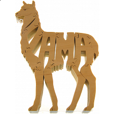 Llama - Wooden Puzzle -
