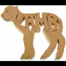 Lamb - Wooden puzzle -