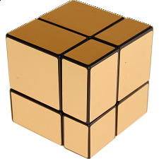 Mirror 2x2x2 Cube - Black Body with Gold Labels -