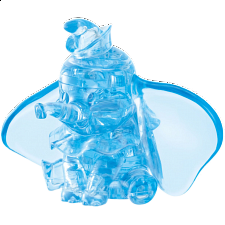 3D Crystal Puzzle - Dumbo (Blue) -