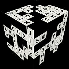 V-CUBE 3 Flat (3x3x3): Crossword Cube -