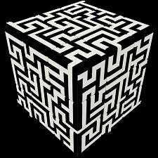 V-CUBE 3 Flat (3x3x3): Maze -