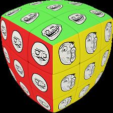 V-CUBE 3 Pillow (3x3x3): Meme Cube -