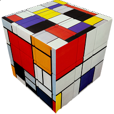 V-CUBE 3 Flat (3x3x3): Mondrian -