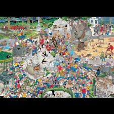 Jan van Haasteren Comic Puzzle - The Zoo -