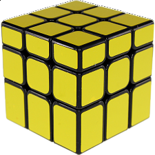 Unequal 3x3x3 Cube - Black Body in Yellow Stickers -