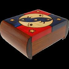 Moon & Stars Puzzle Box -