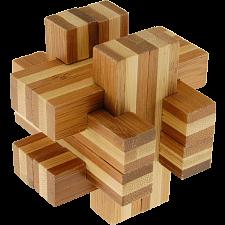 Bamboo Wood Puzzle - Cross Roads -