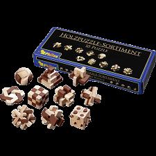 Wooden Puzzle Assortment - 10 Puzzles -