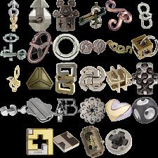 Levels 1-3: a set of 29 Hanayama Metal Puzzles -