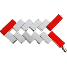 Mini Line Cube - Red -