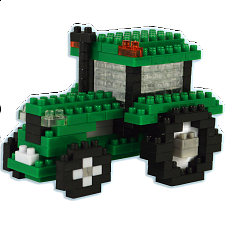 3D Pixel Puzzle - Tractor -
