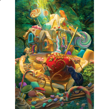 Candy Cottage - Family Pieces Puzzle -
